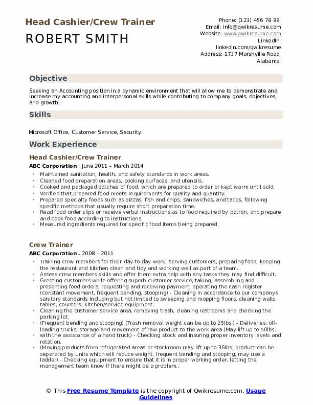 Housekeeping Aide Resume Sample
