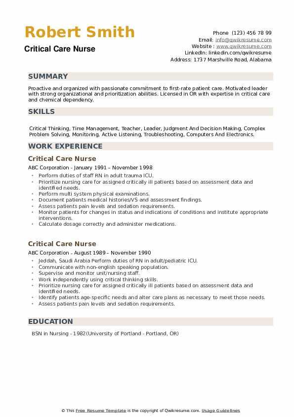 Cvicu nurse resume high school cover letter teacher