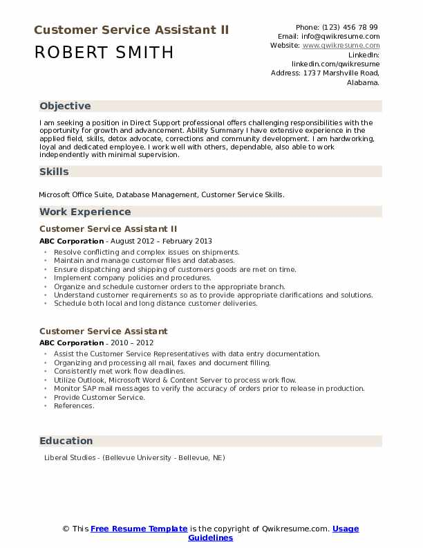 After School Counselor/Advisor Resume Example