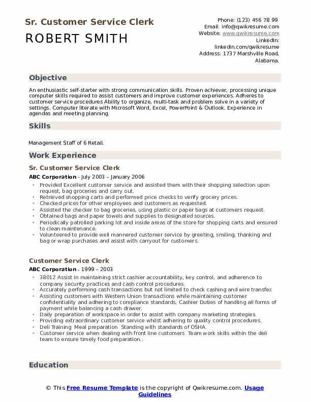 General Service Technician Resume Example