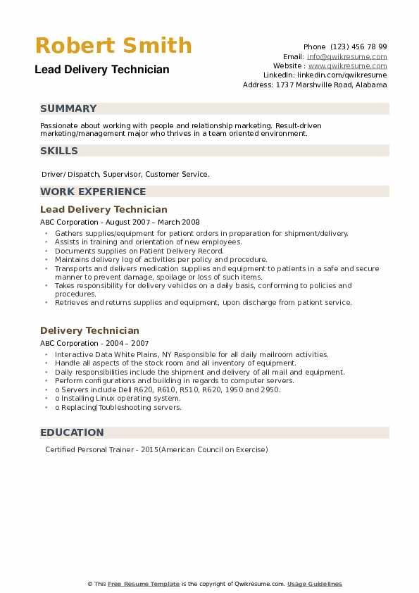 Sales Support Supervisor Resume example