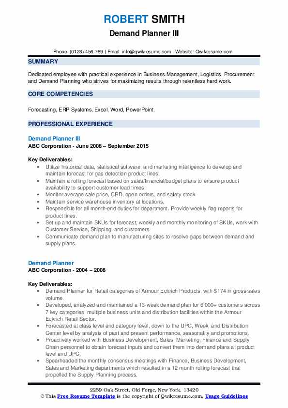 Demand planner resume sample college essays stanford