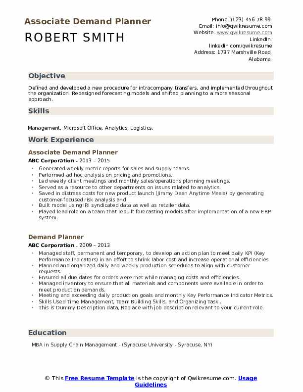 Demand planner resume top book review writers services