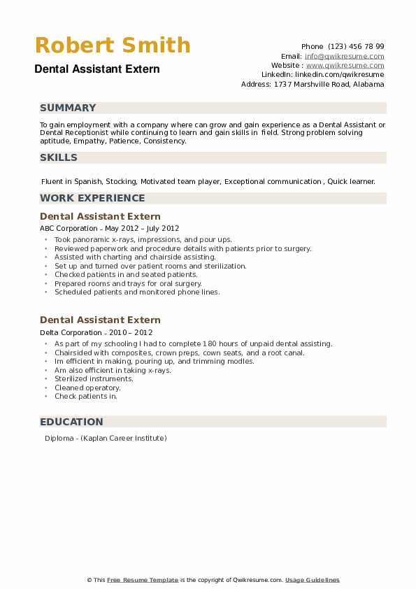 Dental assistant resume for externship capital punishment is morally wrong essay