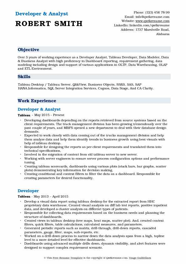 Junior Sql Database Developer Resume Environment