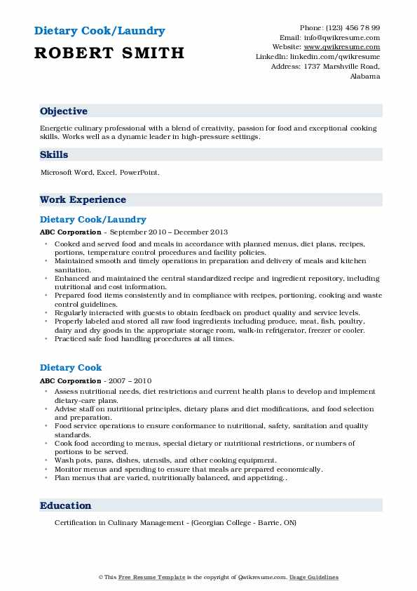 Dietary cook resume sample phd essay writer services us