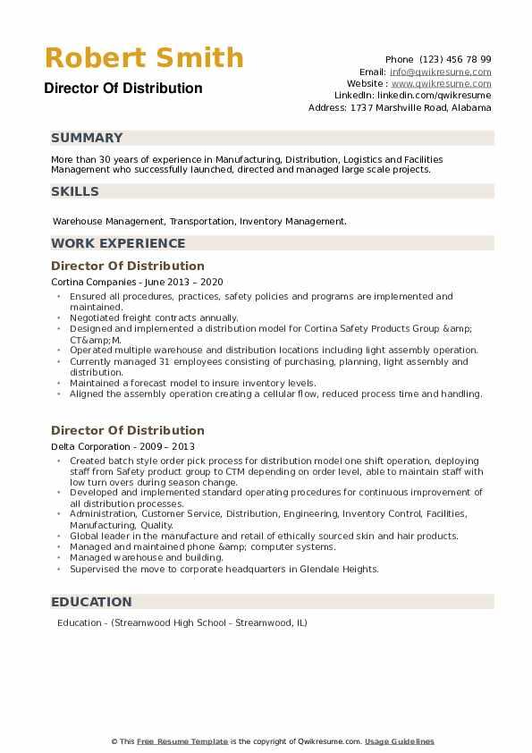 Distribution Clerk Resume Examples | JobHero