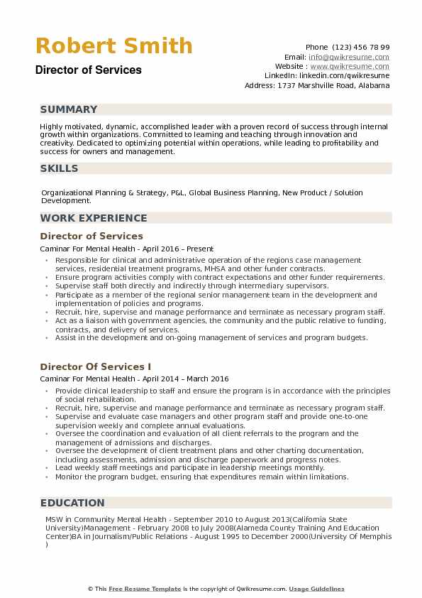 resume writing business plan template