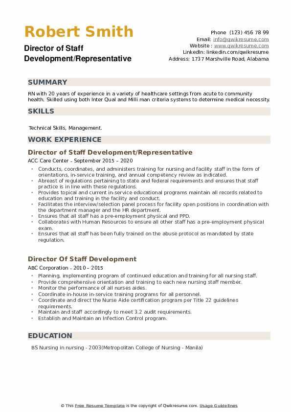 Registered Nurse Supervisor Resume example
