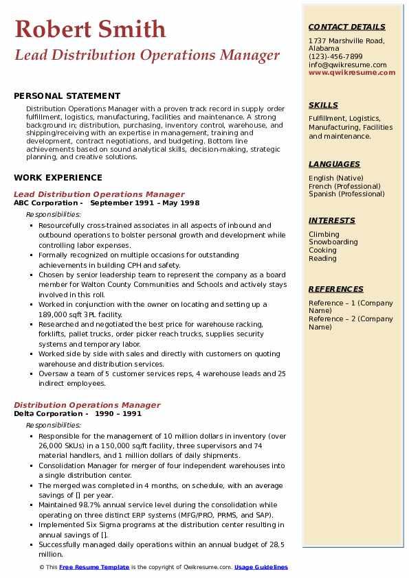 40 Management Resume Examples [Skills, Job Description]