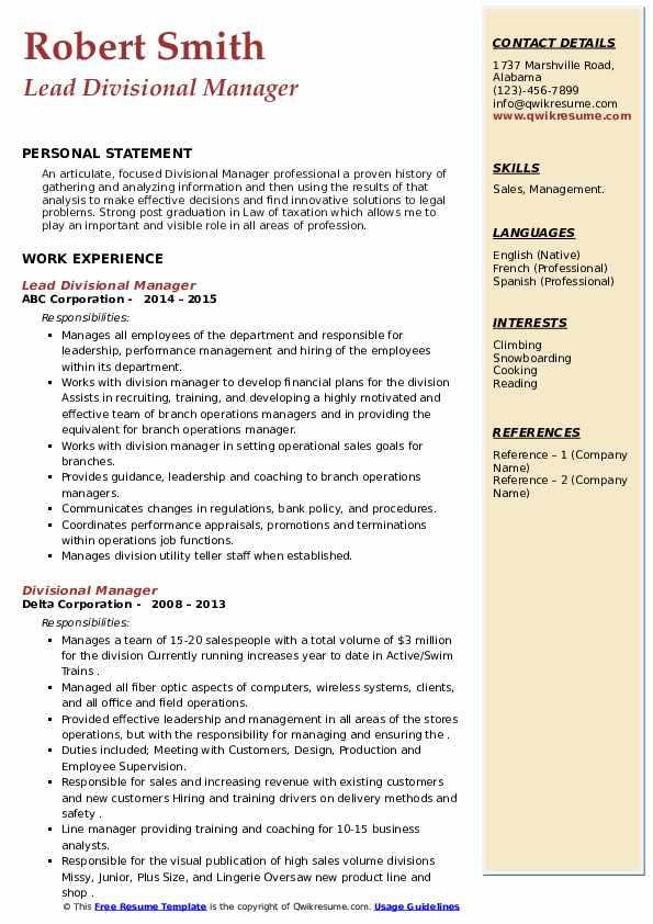 Merchandising Manager Resume Sample | MintResume