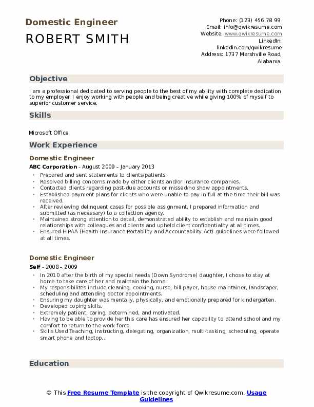 domestic-engineer-1560590328-pdf Safety Man Resume Format on sample functional, mba freshers, job apply, what best, ojt sample, templates free, for doctors, for tech students,