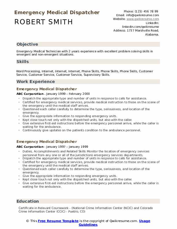Communication Technician Resume example