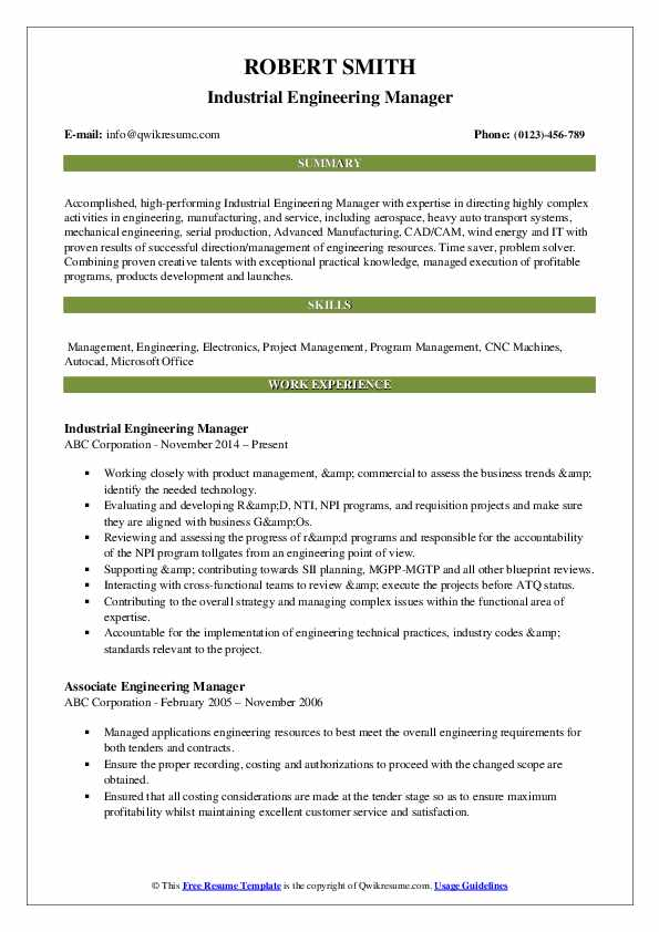 engineering manager resume samples