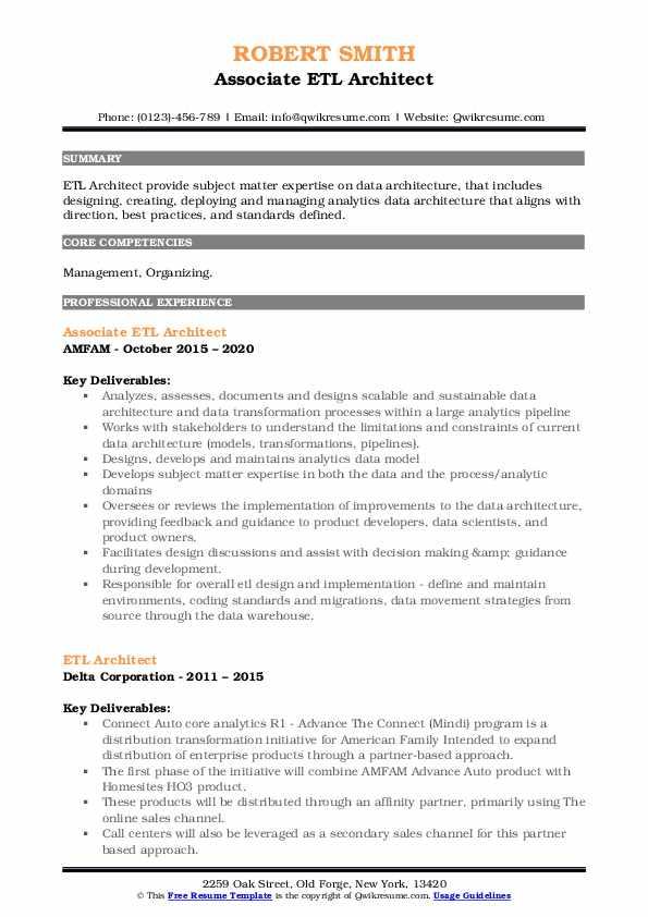 Etl architect resume isb admissions 2013 essays