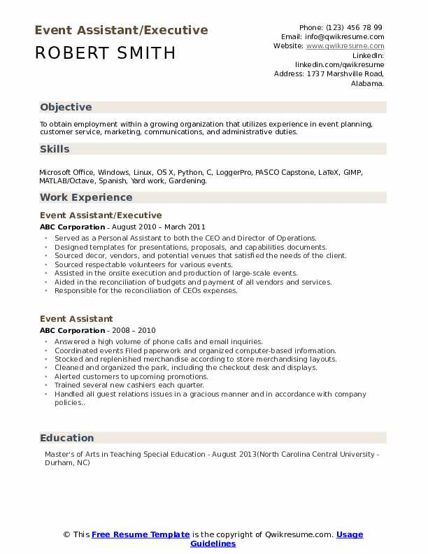 Event Assistant Cover Letter from assets.qwikresume.com