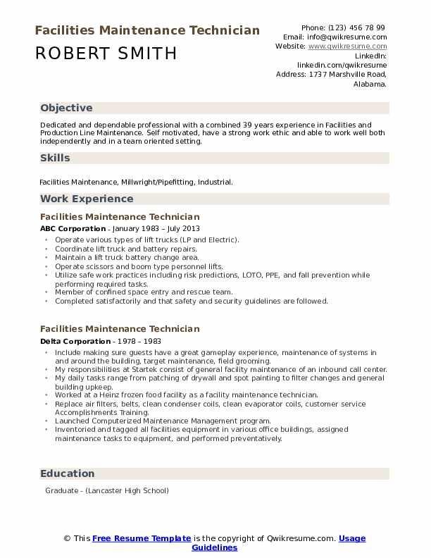 Resume facility technician essay about self-sacrifice
