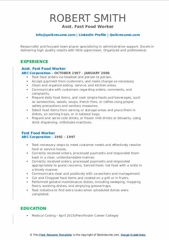 Office Cleaner III Resume Example