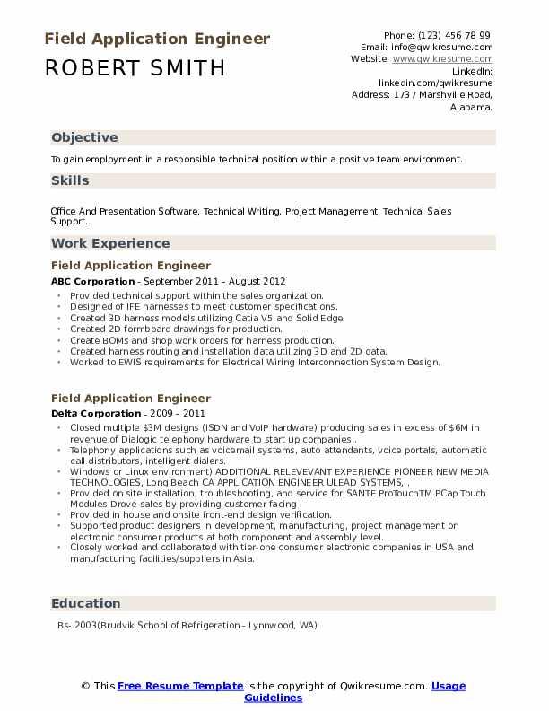 First resume builder