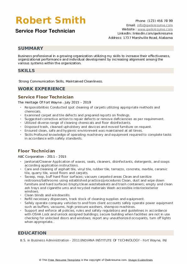 Day Porter Resume example