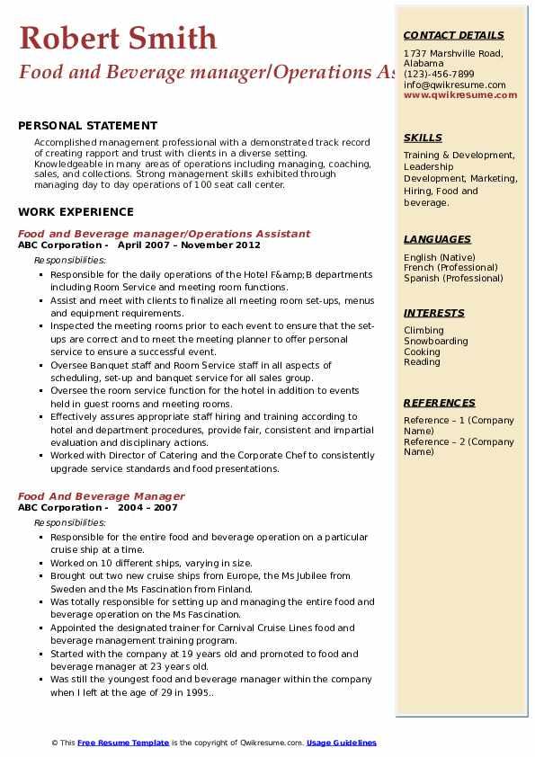 Lead Director of Housekeeping Resume Sample