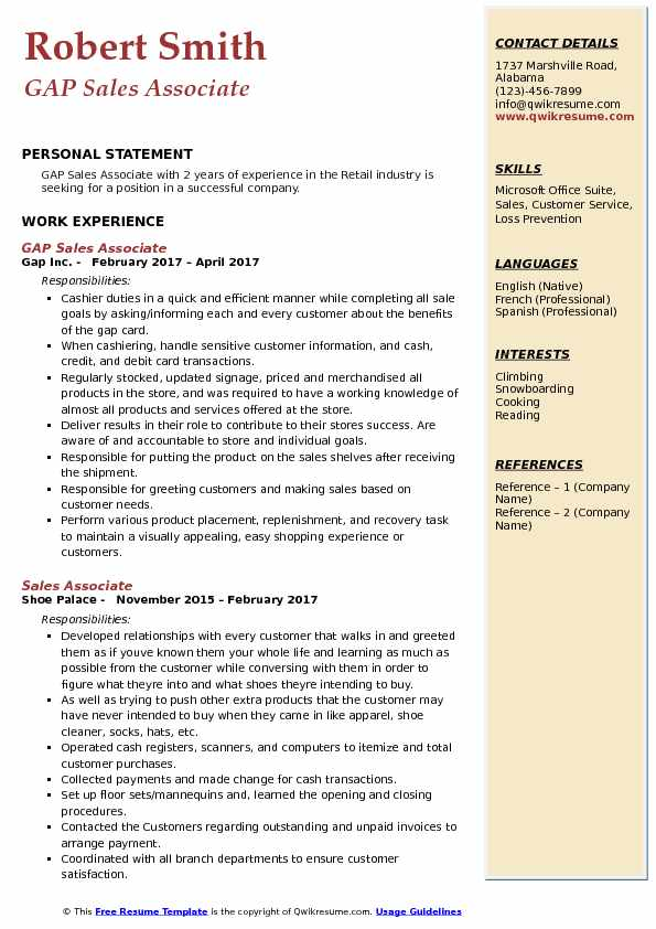 objective on resume for sales associate