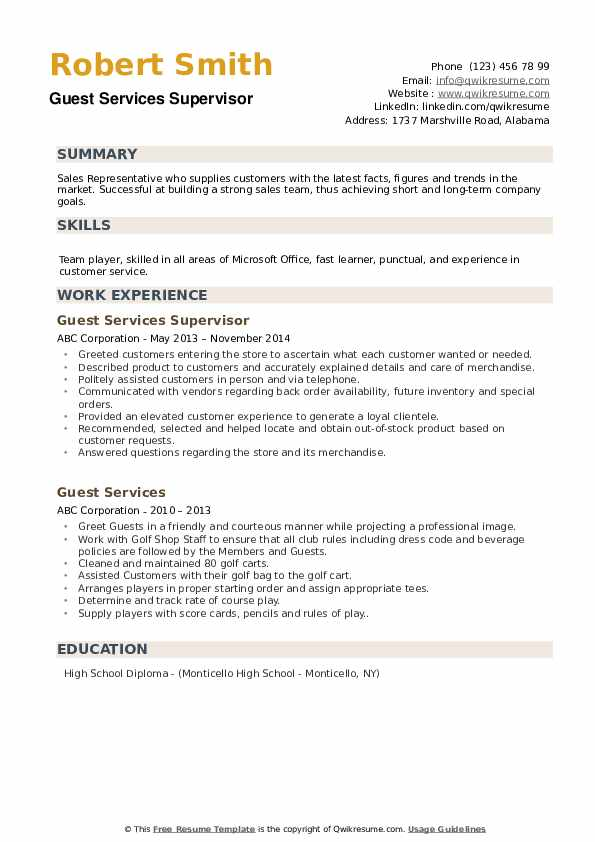 Sr.Film Crew Executive Resume Template