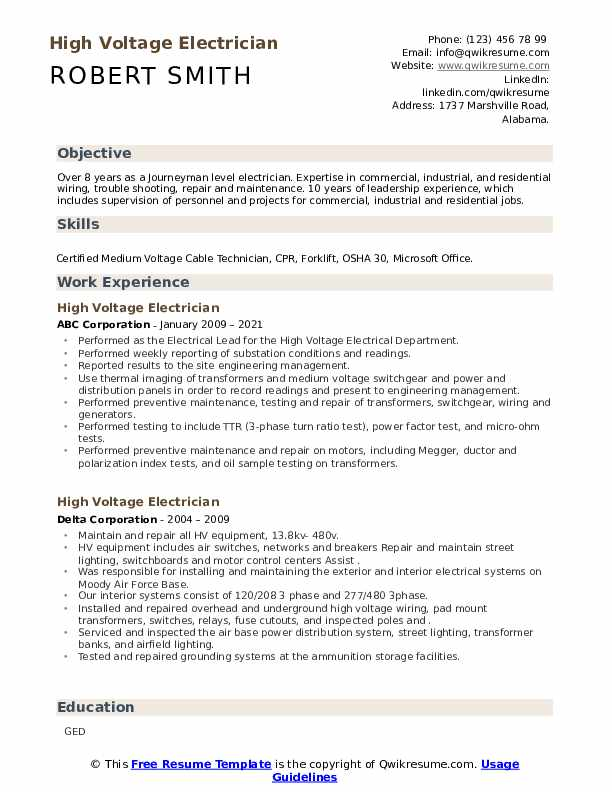 High voltage feeder resume judicial oversight term papers