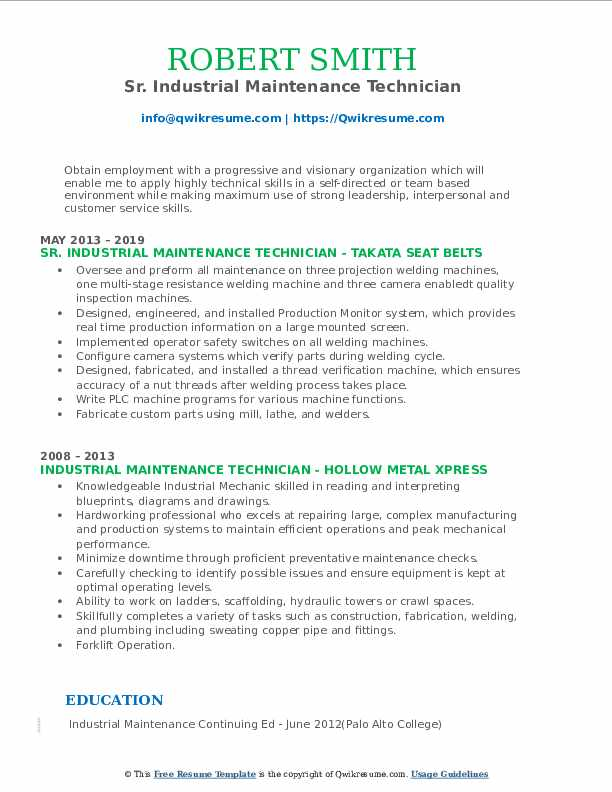 Cable Installer/Electrician Resume Model