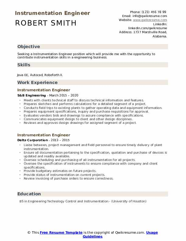 Instrumentation engineer resume doc personal statement for college admission
