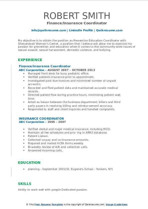 Credentialing Specialist/Accounts Payable Specialist Resume Template