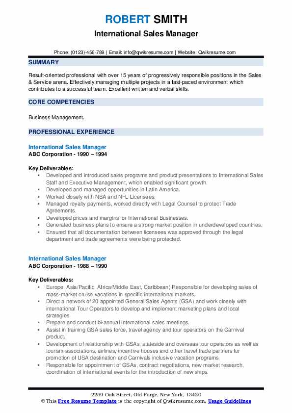 International equipment sales bilingual resume example compare and contrast essay short stories