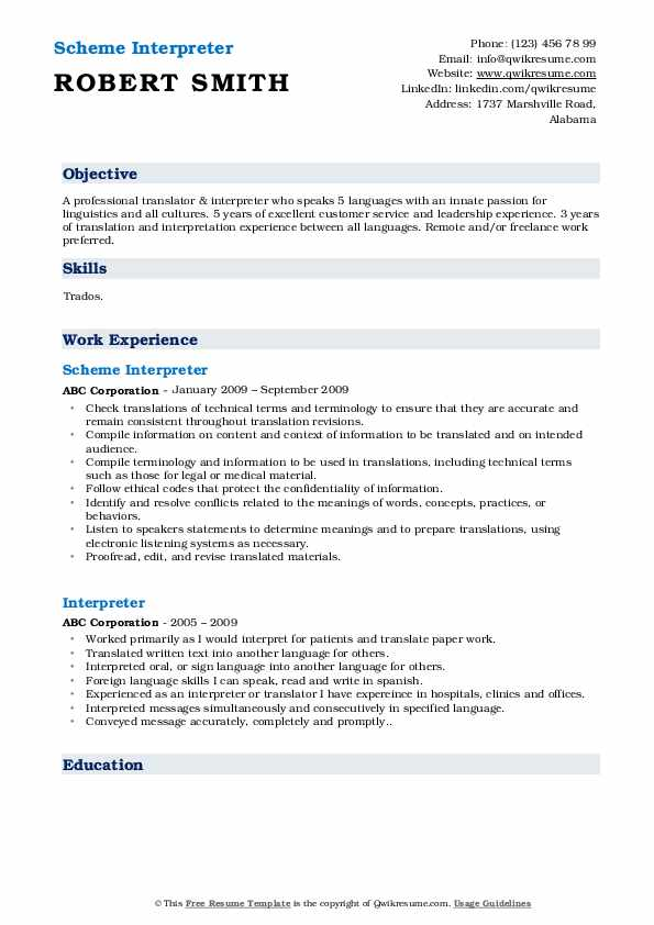 Personal Care Worker/Associate Resume Template