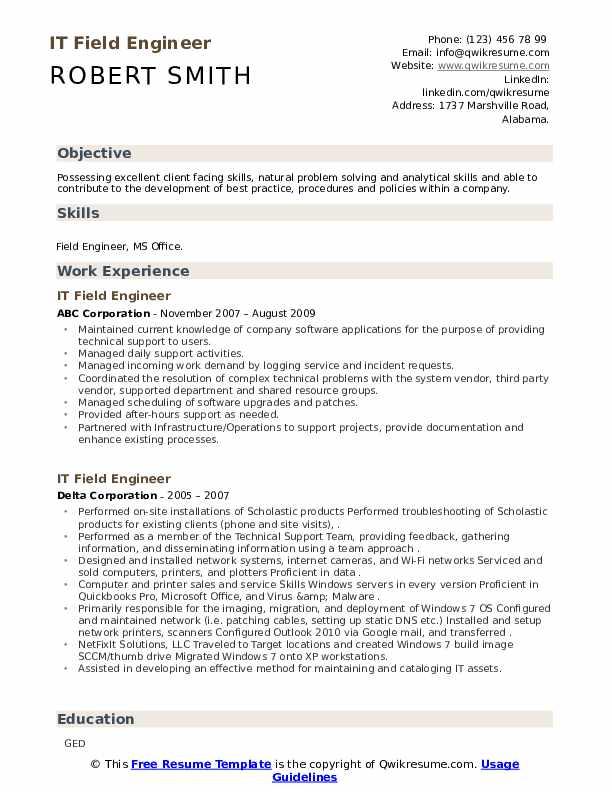 comsec engineer resume