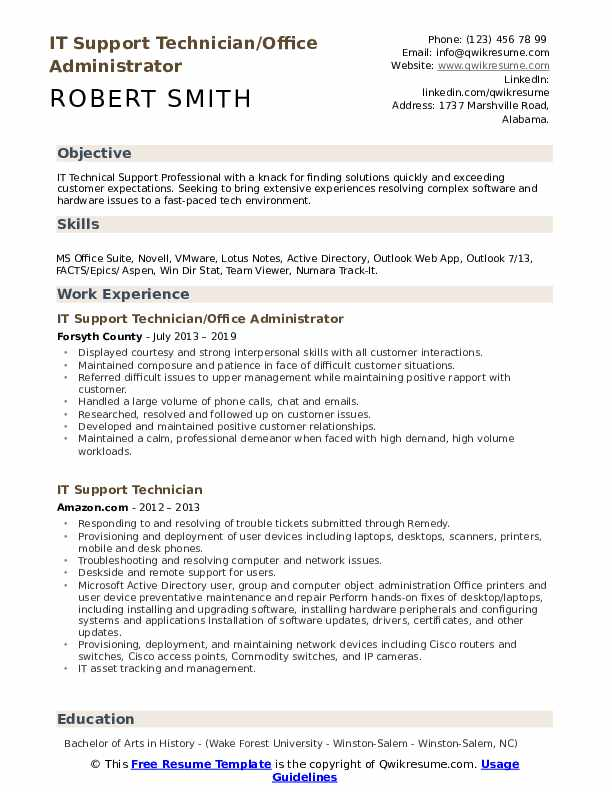 Global IT Analyst Resume Format