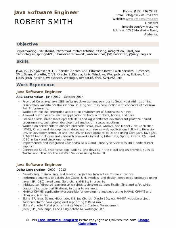 Software engineer resume java xml web st louis native american thesis