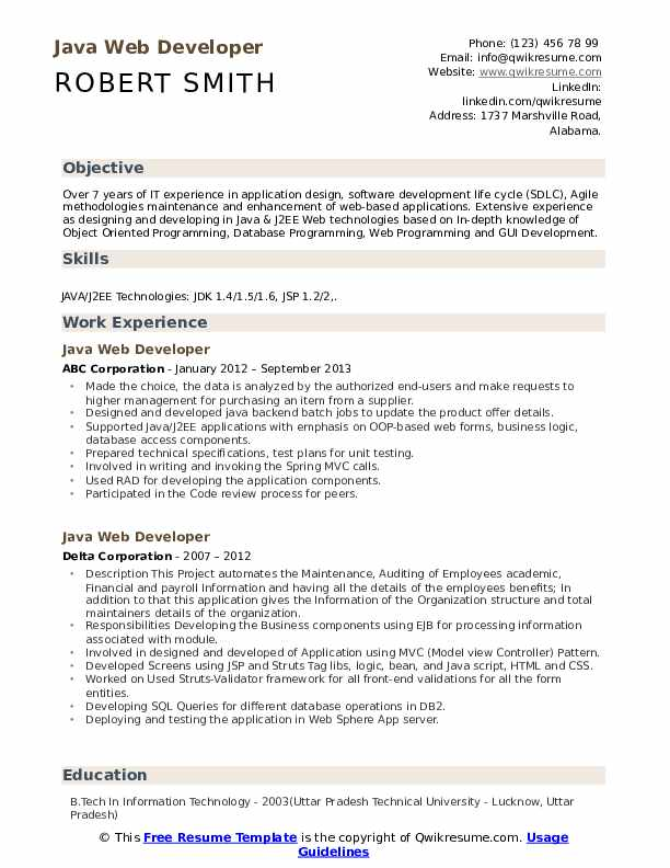 java-web-developer-1583843915-pdf Java Web Developer Resume Example on web applications, templates download free, for hands, covering letter for, beginner sample, format for 2 year experience, entry level core,