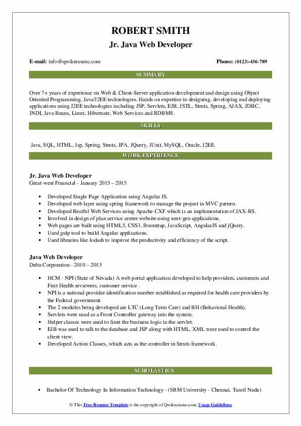 java-web-developer-1583844518-pdf Java Web Developer Resume Example on web applications, templates download free, for hands, covering letter for, beginner sample, format for 2 year experience, entry level core,