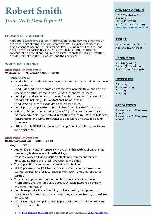 java-web-developer-1583844666-pdf Java Web Developer Resume Example on web applications, templates download free, for hands, covering letter for, beginner sample, format for 2 year experience, entry level core,