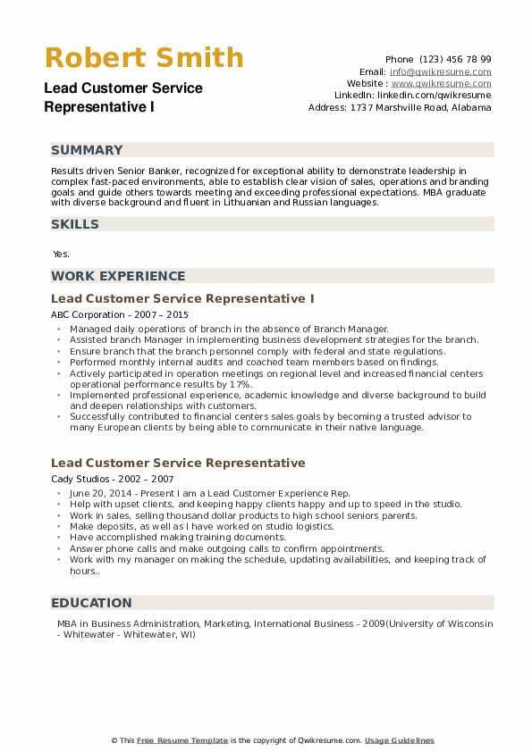 Senior Banker Resume example