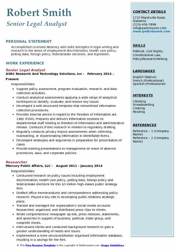 Foia Analyst Resume