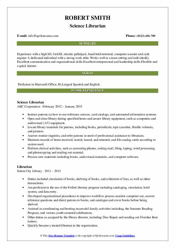 On-Call Program Aide Resume Format