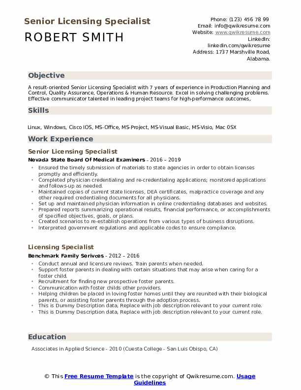 Objective education experience licenses resume advance auto parts resume