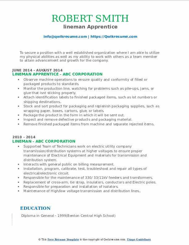 Eira Template Cover Letter Apprentice Lineman Cover Letter