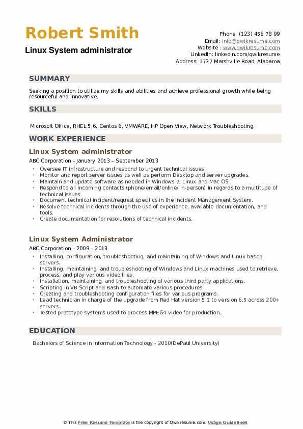 IT Service Desk Analyst Resume example