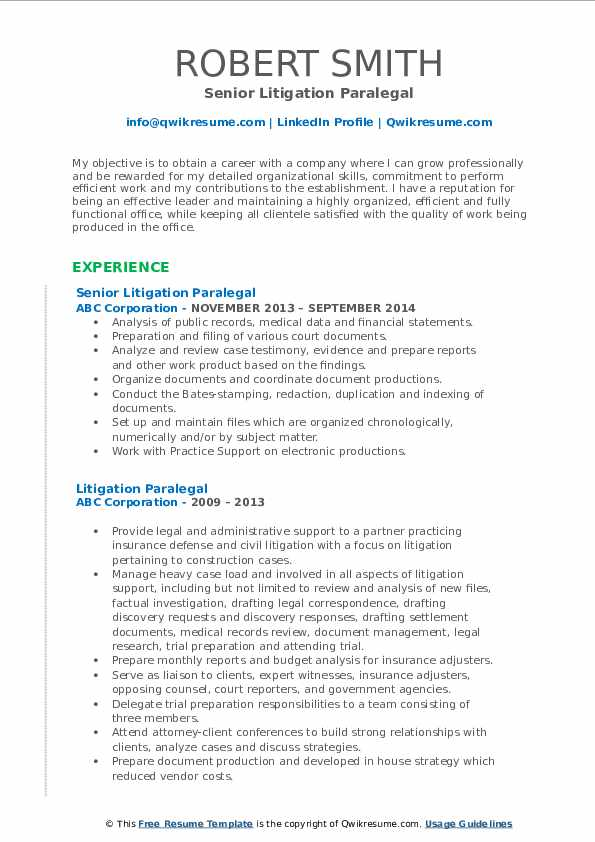 Project Team Manager Resume Format