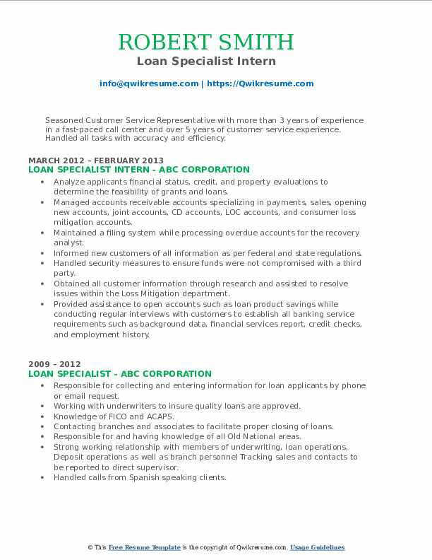 Claims Bill Processing Specialist Resume Model