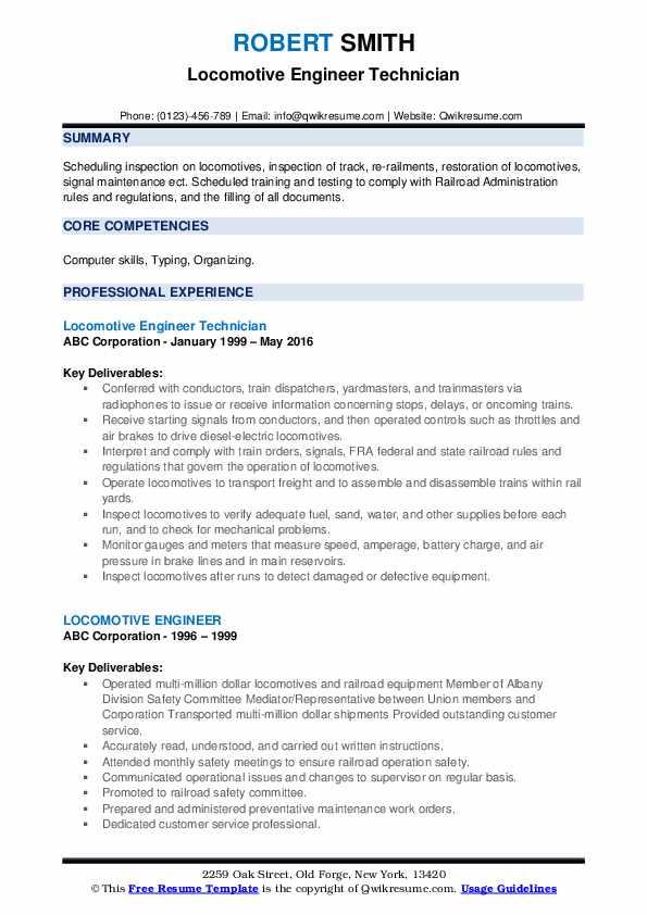 Operator Technician III Resume Format