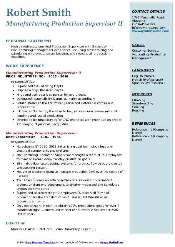 manager sales resume