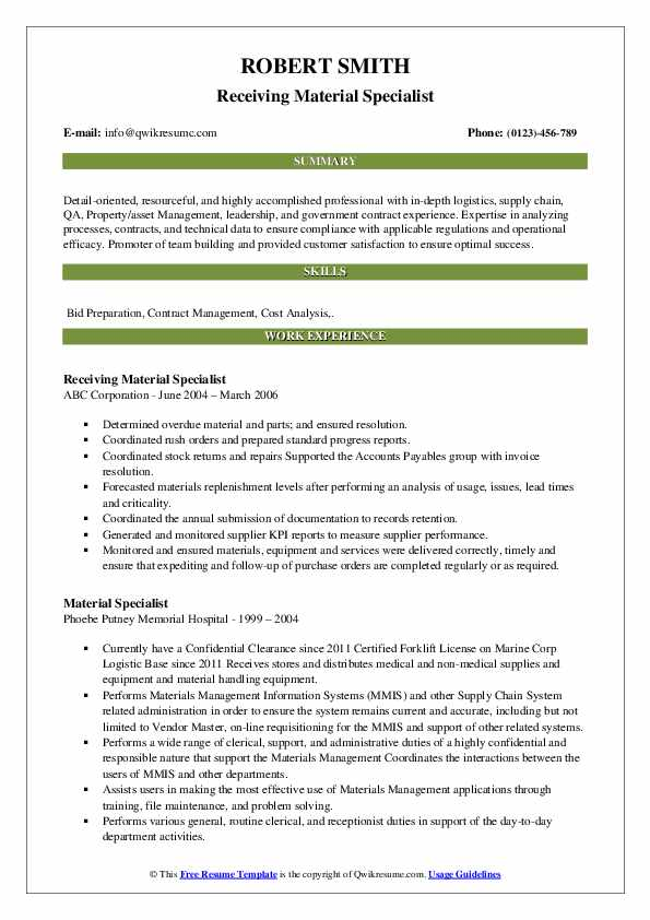 Sales & Procurement Coordinator Resume Example